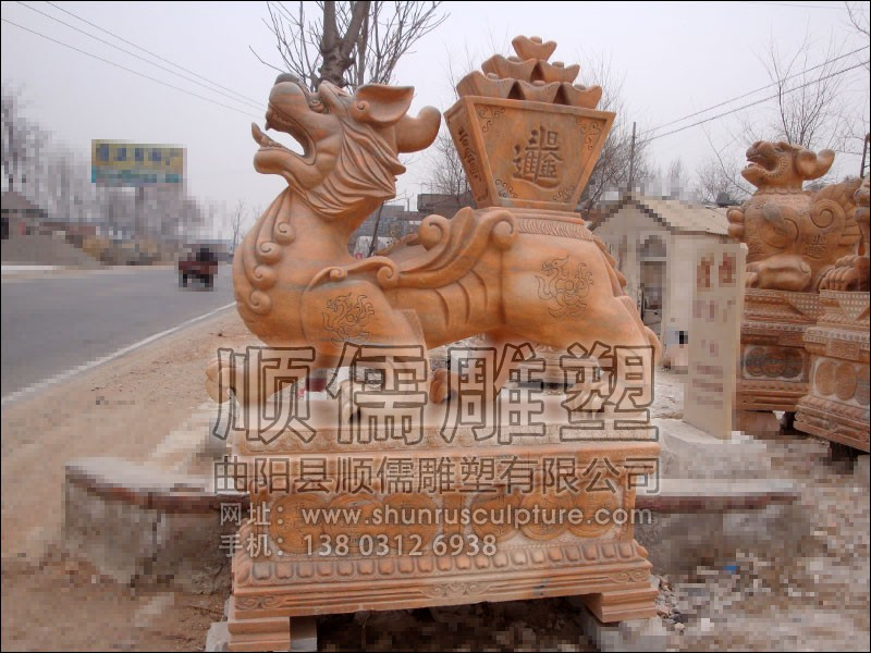 招财进宝-001-石雕-顺儒雕塑