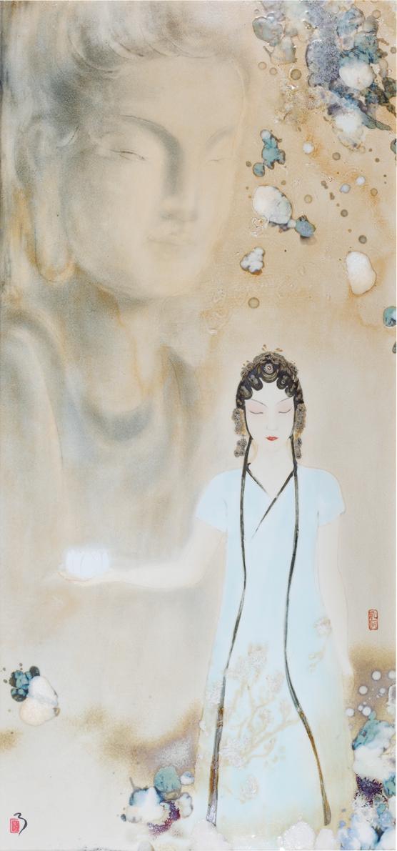 江西景德镇 作者:赵永丽  颜色釉瓷板 境