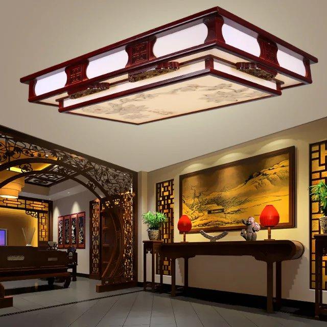 中式木艺吸顶灯7050