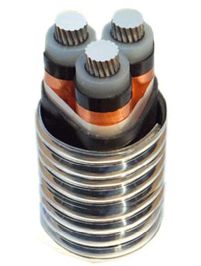 YJHLV8 交联聚乙烯绝缘铝合金带连锁铠装铝合金电力电缆
