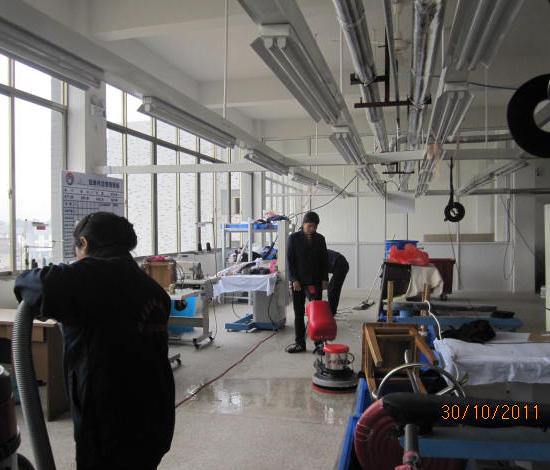 宣城金宁服装厂作业区保洁