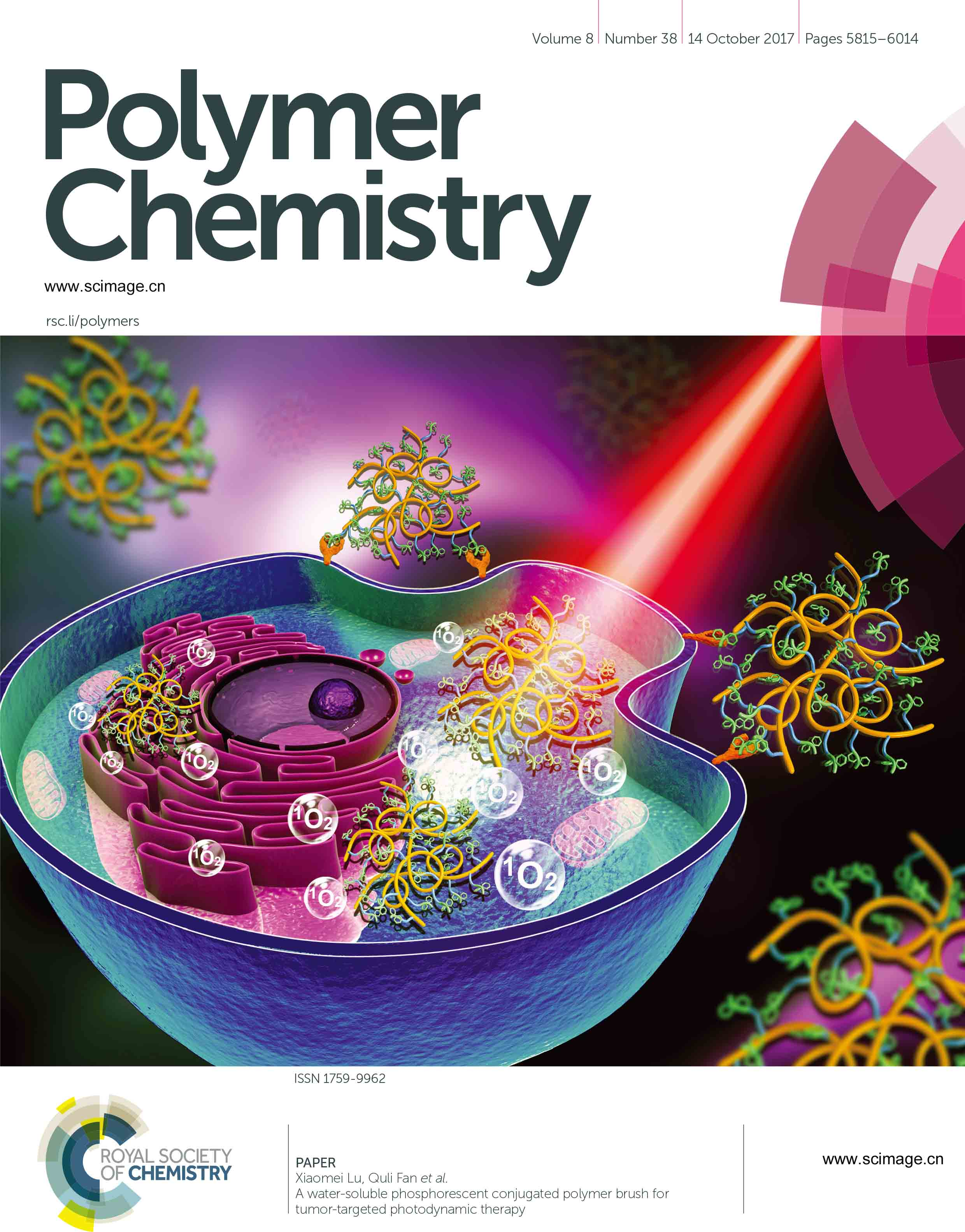 A water-soluble phosphorescent conjugated polymer brush for tumor-targeted photodynamic therapy