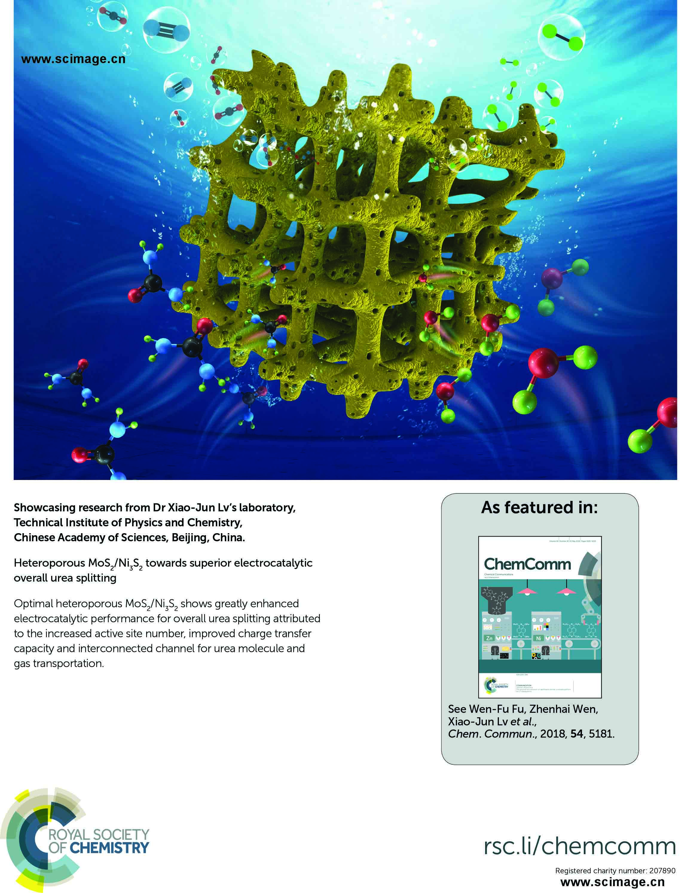 Heteroporous MoS2/Ni3S2 towards superior electrocatalytic overall urea splitting