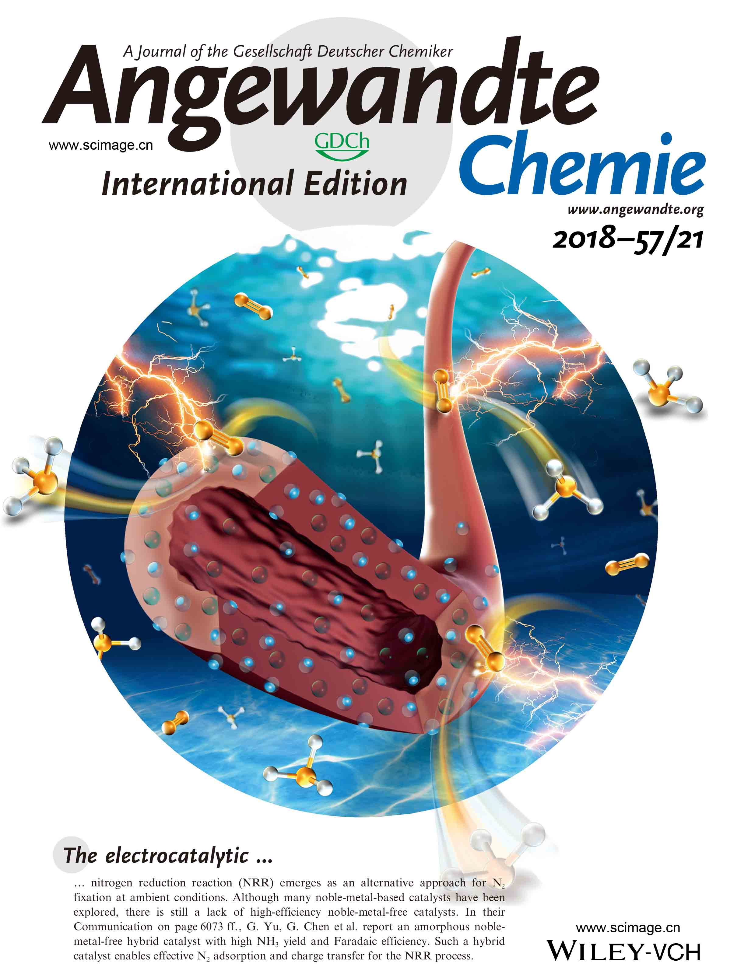 An Amorphous Noble‐Metal‐Free Electrocatalyst that Enables Nitrogen Fixation under Ambient Conditions