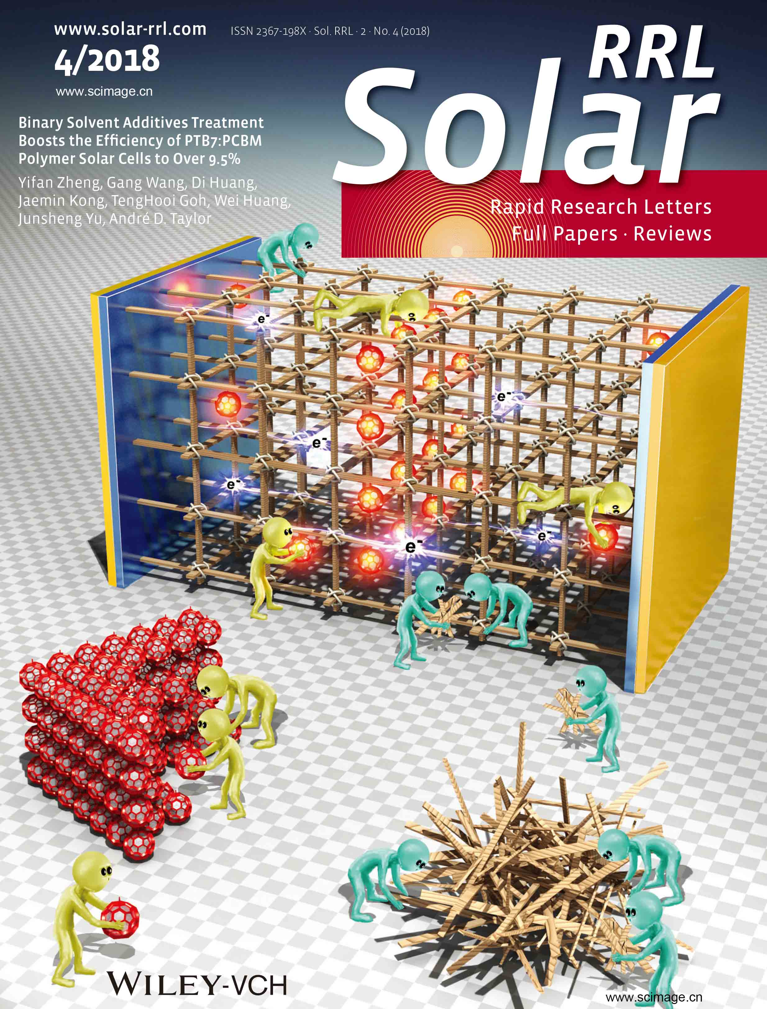 Binary Solvent Additives Treatment Boosts the Efficiency of PTB7:PCBM Polymer Solar Cells to Over 9.5%