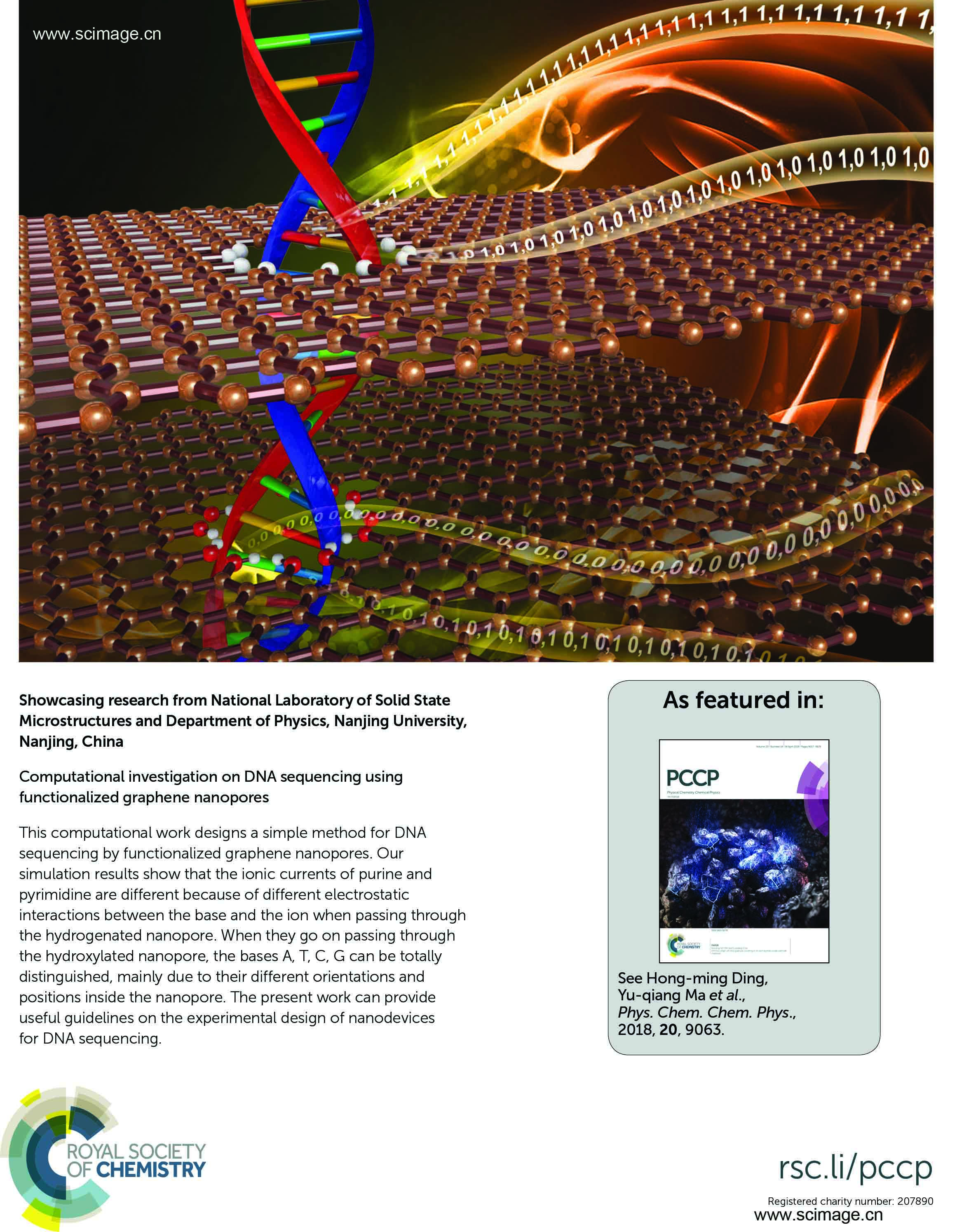 Computational investigation on DNA sequencing using functionalized graphene nanopores