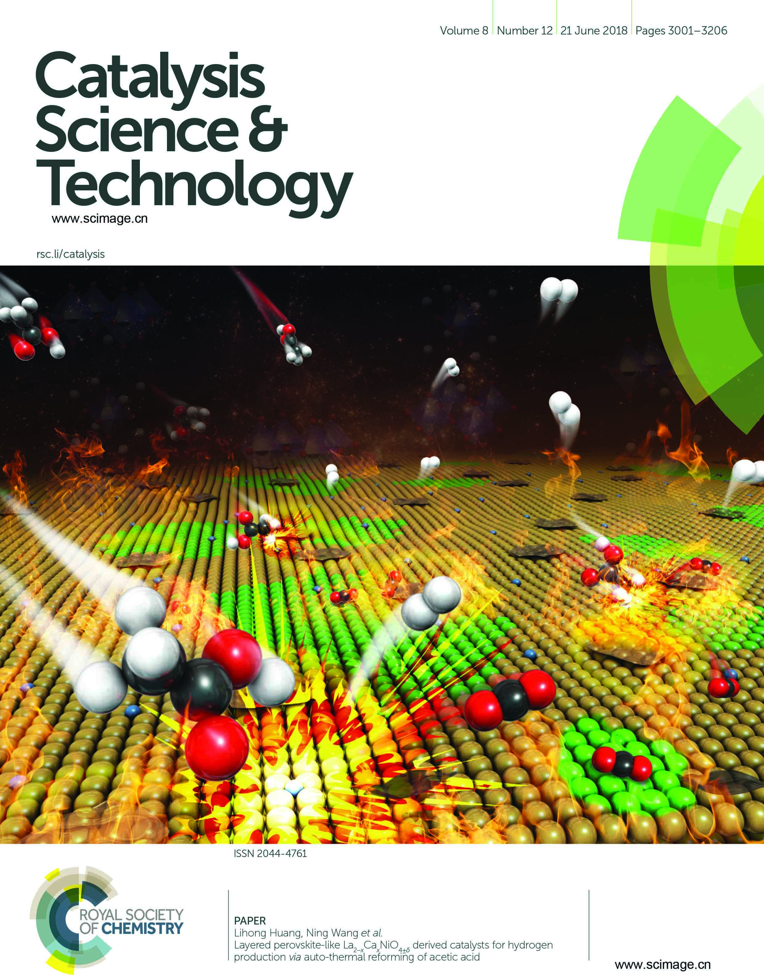 Layered perovskite-like La2−xCaxNiO4±δ derived catalysts for hydrogen production via auto-thermal reforming of acetic acid
