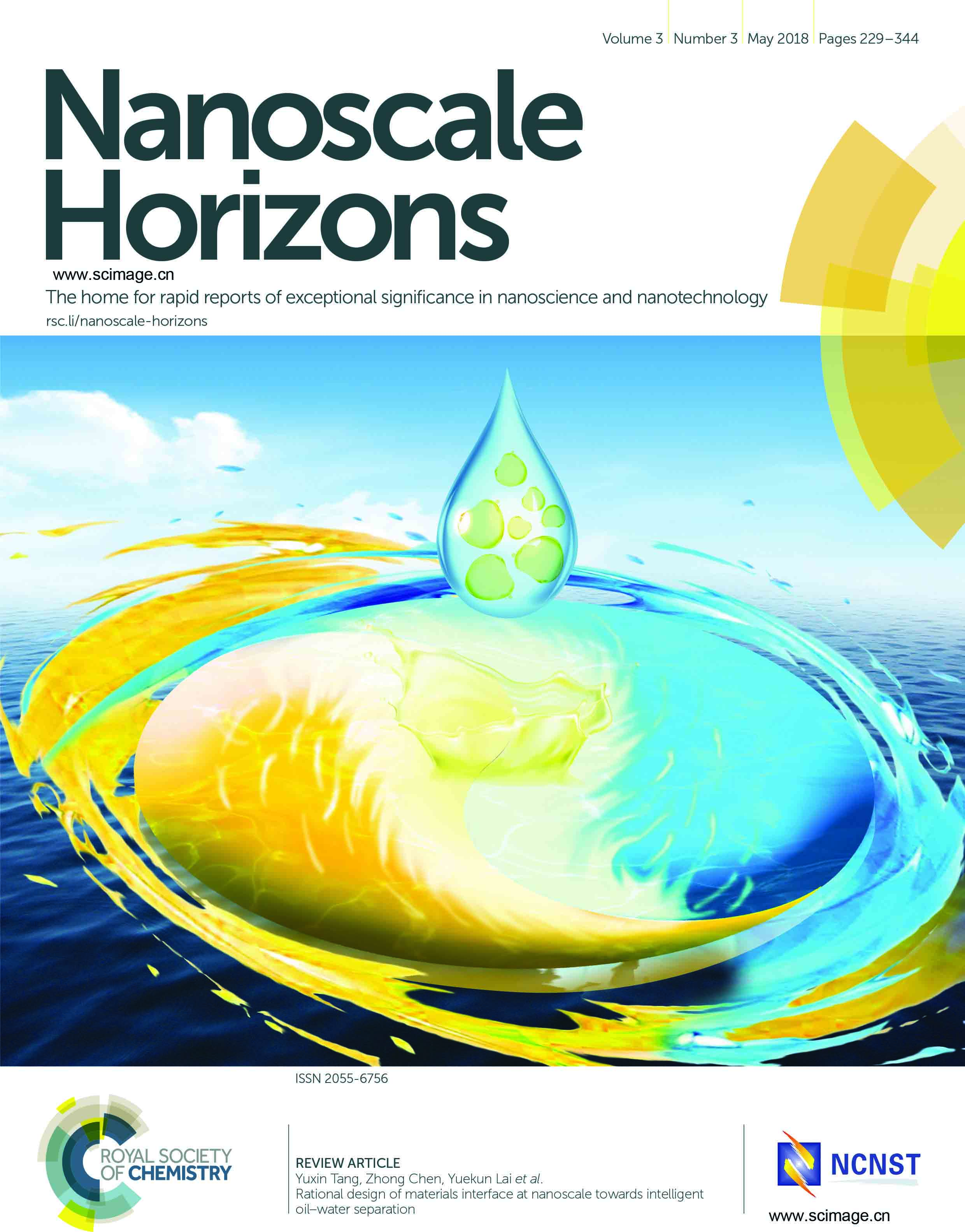 Rational design of materials interface at nanoscale towards intelligent oil–water separation