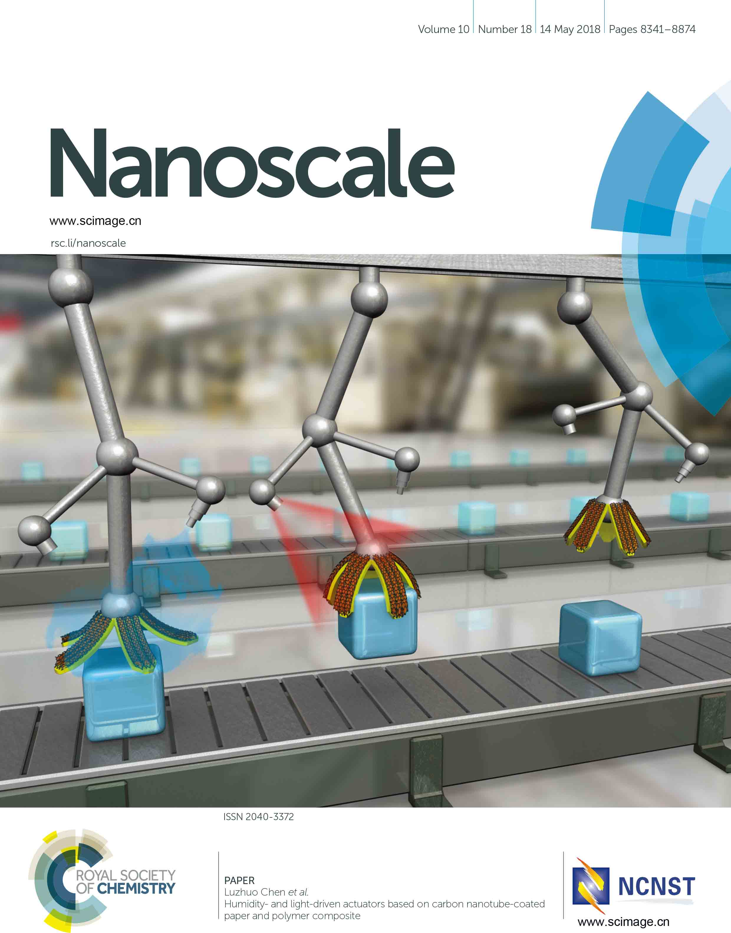 Humidity- and light-driven actuators based on carbon nanotube-coated paper and polymer composite