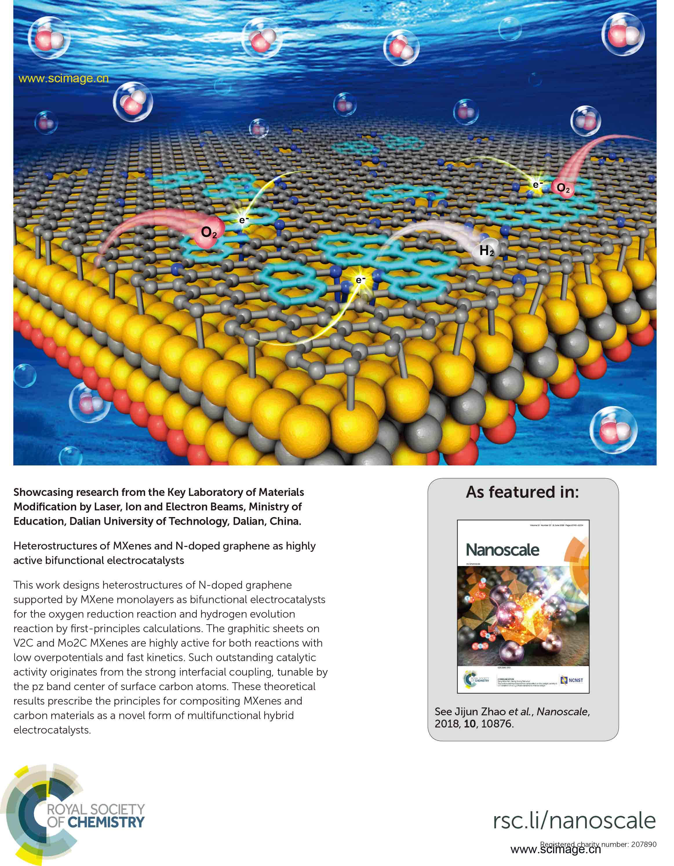 Heterostructures of MXenes and N-doped graphene as highly active bifunctional electrocatalysts