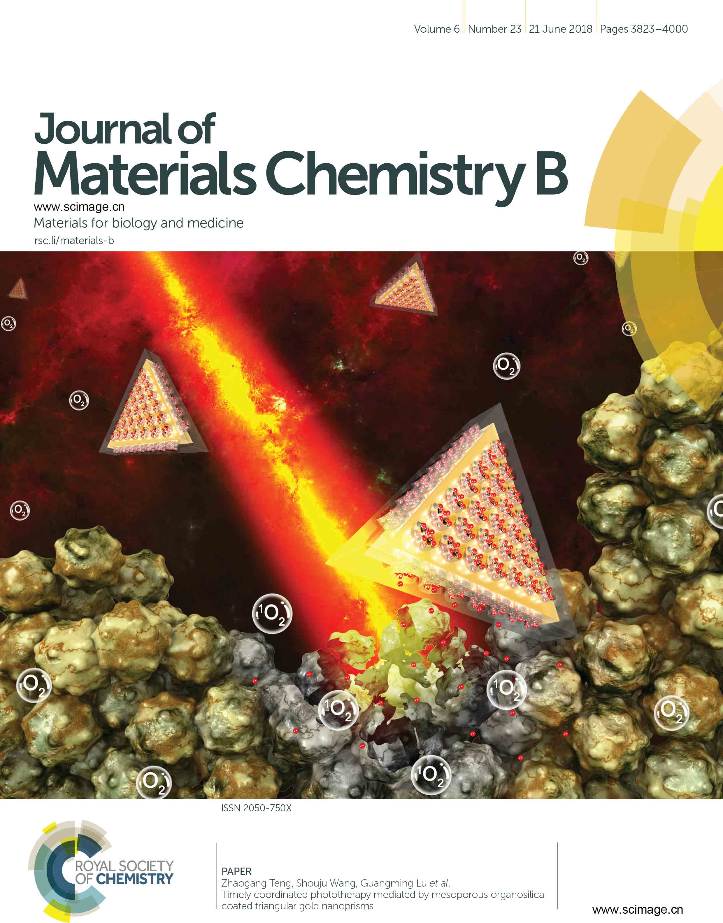 Timely coordinated phototherapy mediated by mesoporous organosilica coated triangular gold nanoprisms