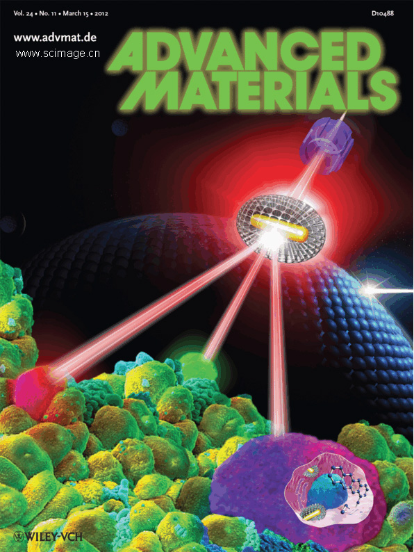 Theranostics: Mesoporous Silica-Coated Gold Nanorods as a Light-Mediated Multifunctional Theranostic Platform for Cancer Treatment (Adv. Mater. 11/2012) (page 1349)