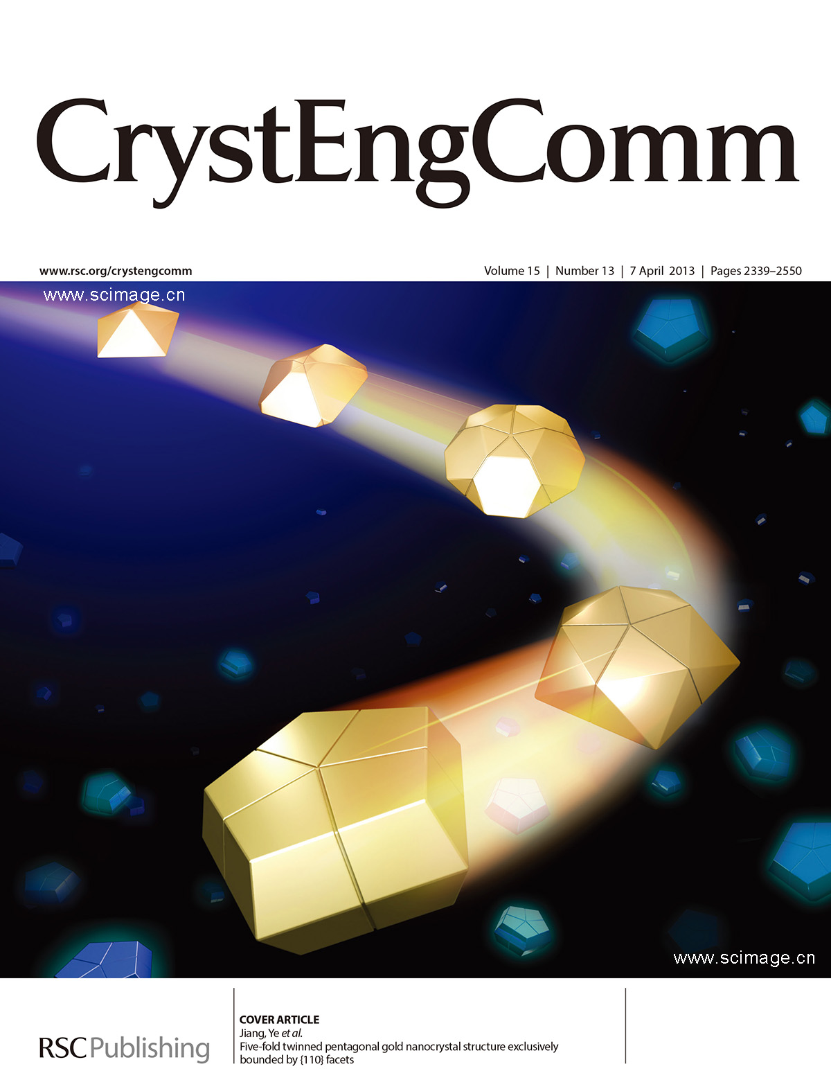 Five-fold twinned pentagonal gold nanocrystal structure exclusively bounded by {110} facets