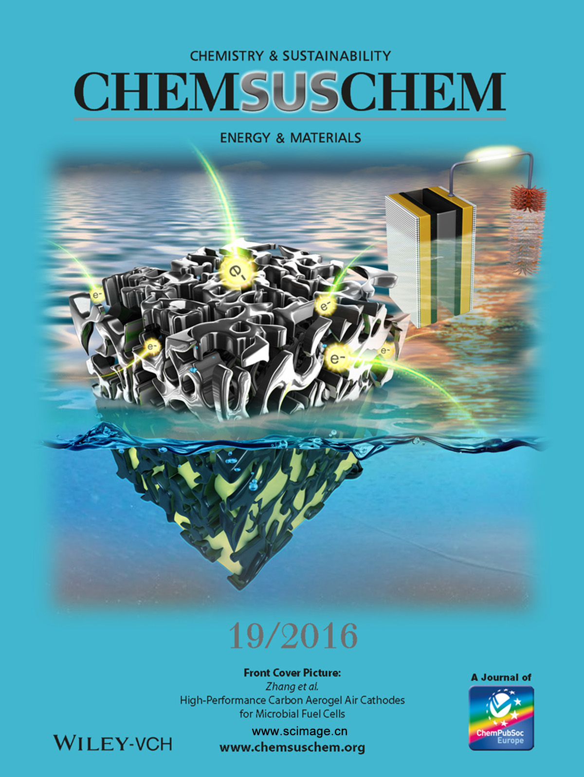 High-Performance Carbon Aerogel Air Cathodes for Microbial Fuel Cells (ChemSusChem 19/2016) (page 2717)
