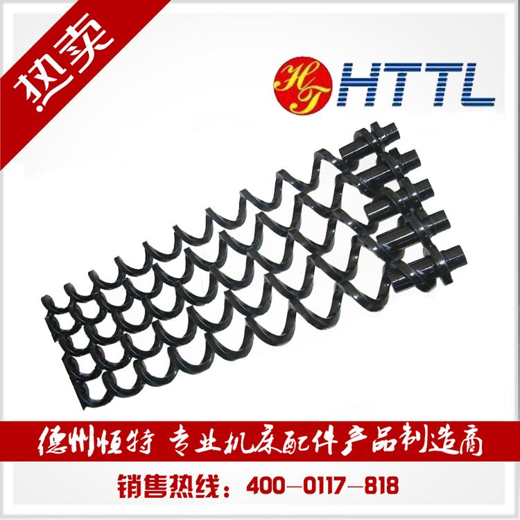 厂家直销螺旋杠排屑机螺旋叶片绞龙输送机配件方钢螺旋排屑机绞龙