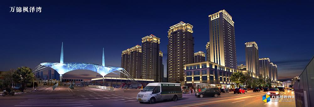 呼和浩特万锦枫泽湾夜景照明
