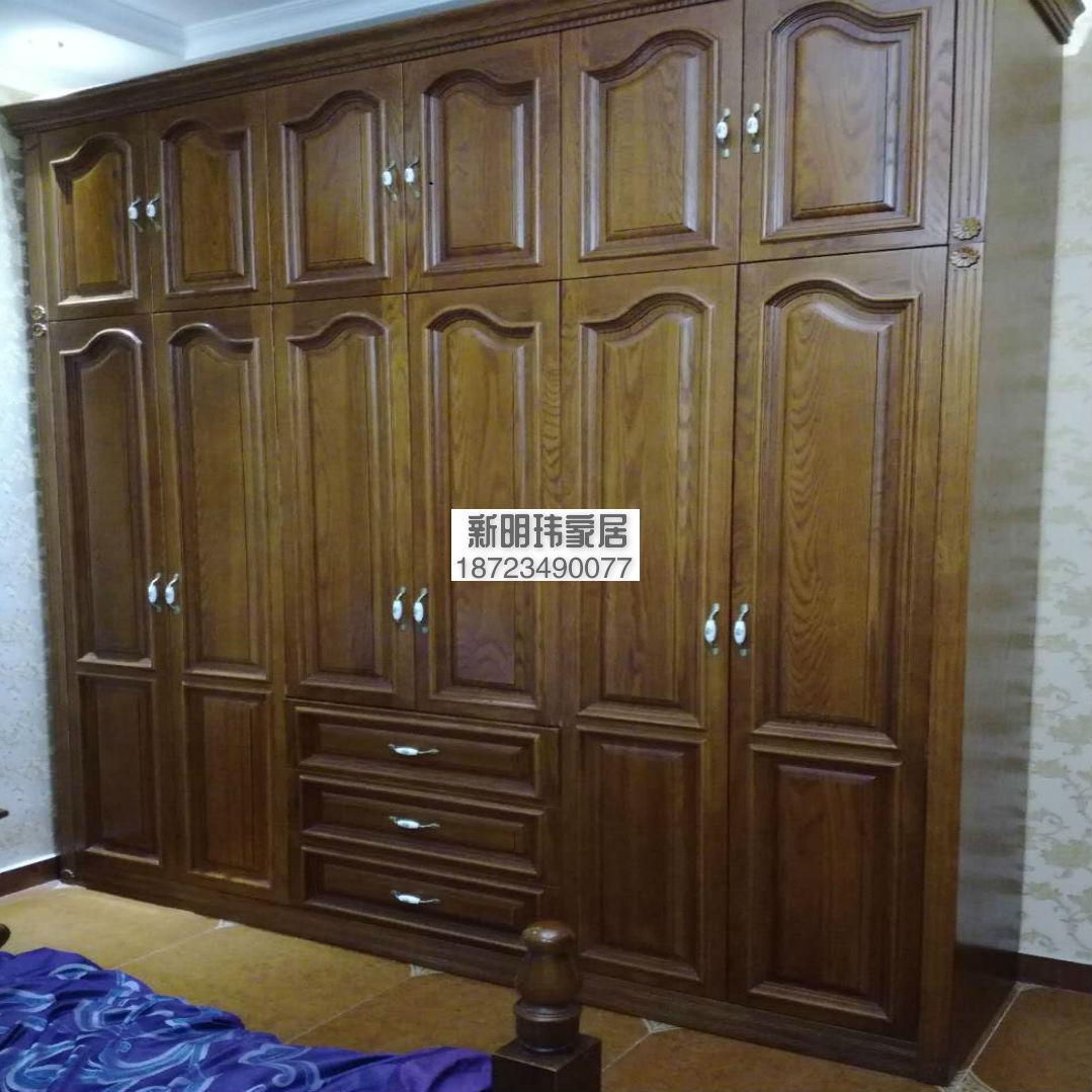 红橡原木衣柜 橡木衣柜