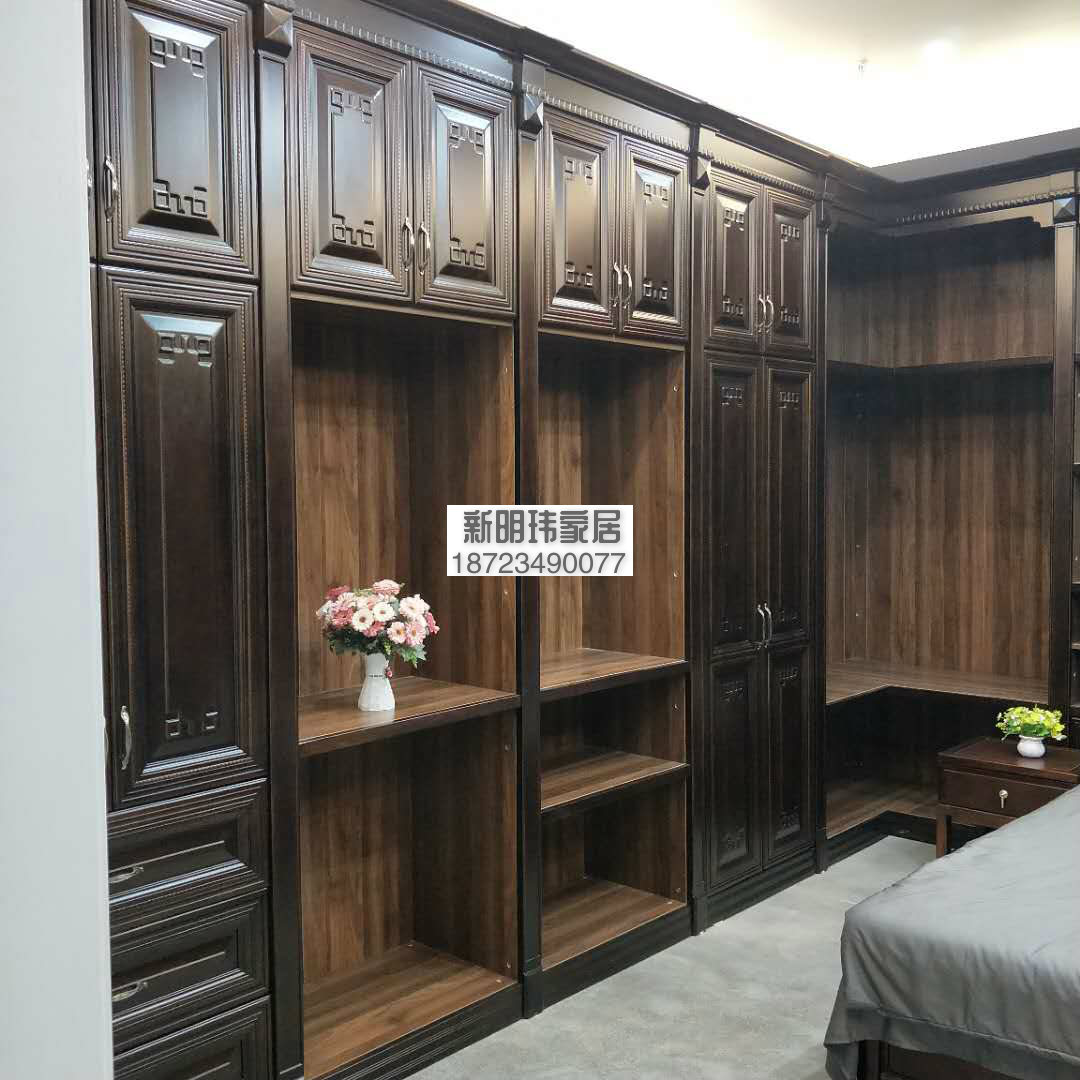 实木衣柜 原木衣柜 新中式 樱桃木