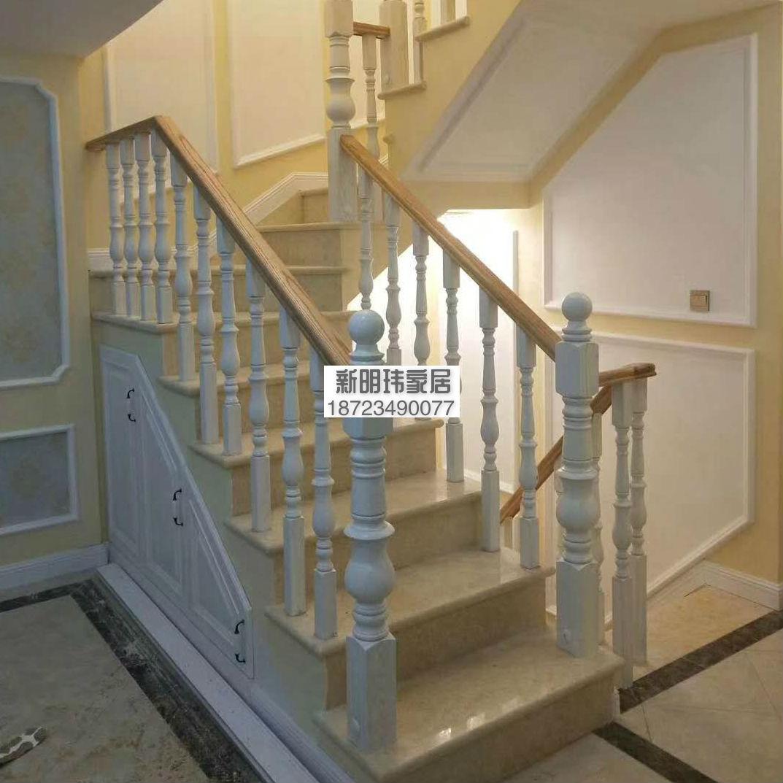 实木楼梯 实木栏杆