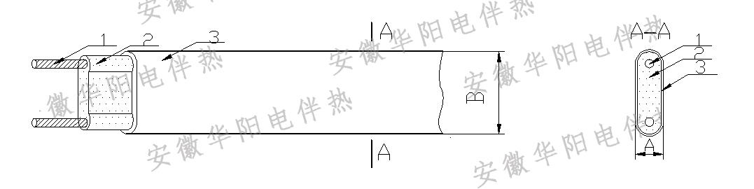 电伴热结构示意图---华阳电伴热
