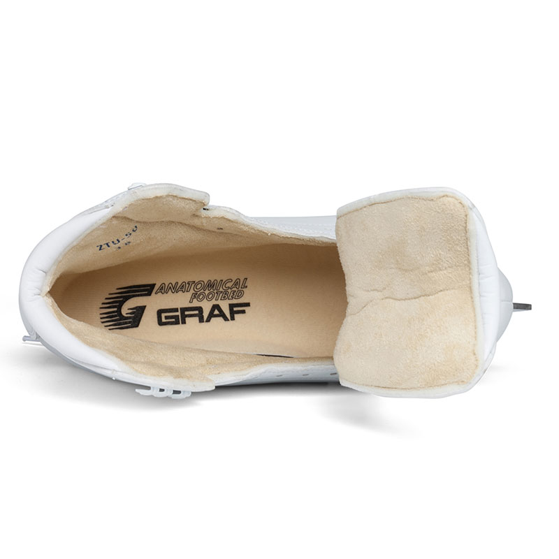 GRAF格拉芙花樣冰刀鞋U50白色