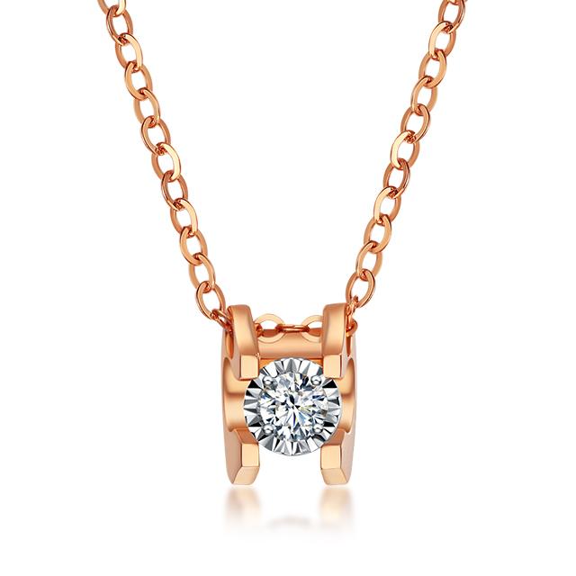 光芒 18K金钻石项链  JAdFa40011