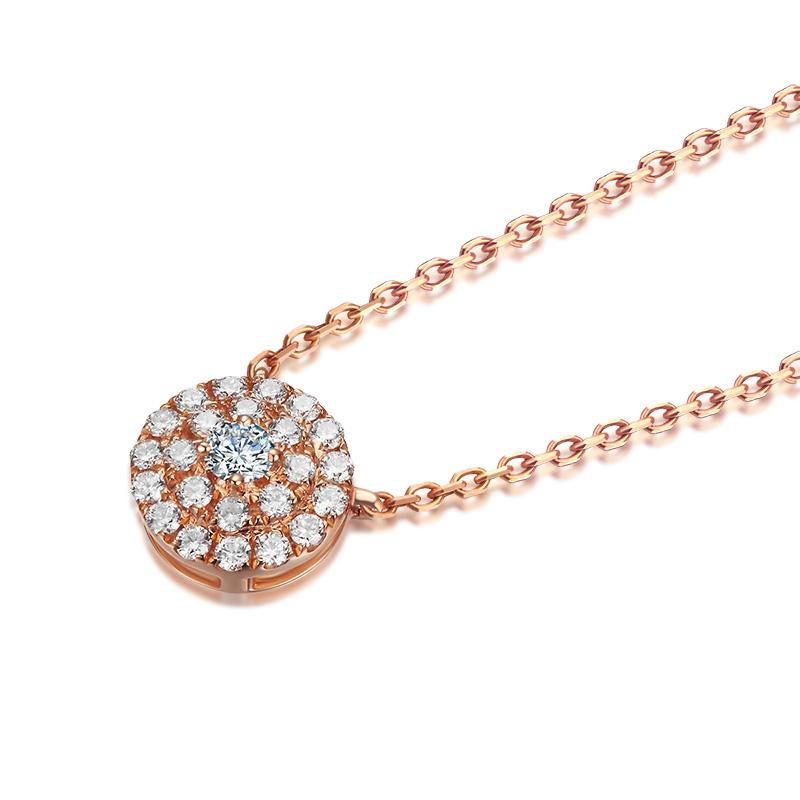 甜梦 18K金钻石项链 jxt00120