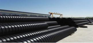 聚乙烯塑钢缠绕排水管(立式钢带)