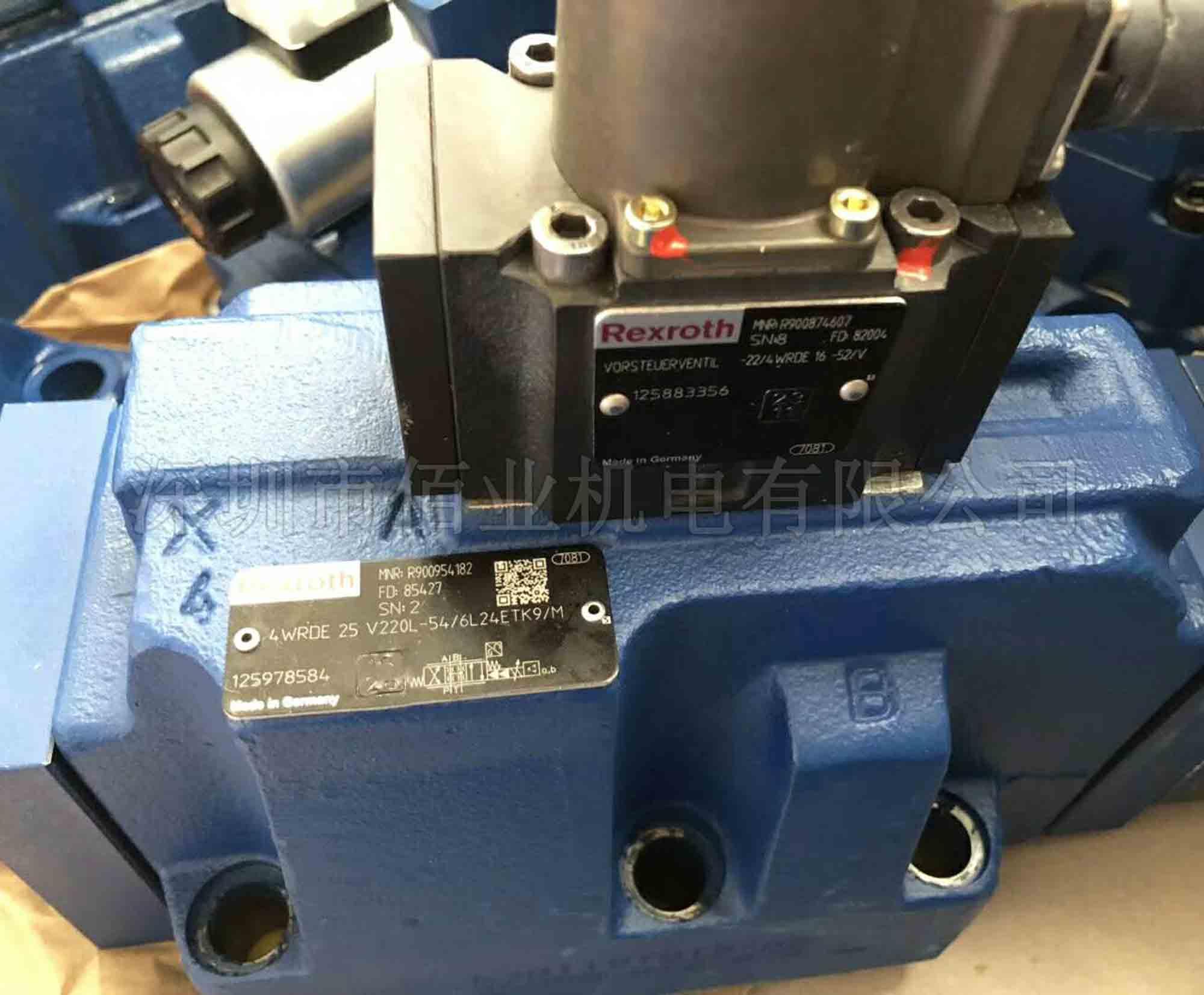 力士樂高頻響換向閥R900954182,4WRDE25V220L-5X/6L24ETK9/M