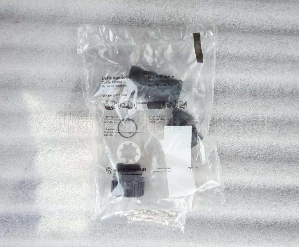 力士乐用于带圆形连接器的阀的连接插头,11极+PE,R900752278,PLUG-IN CONNECTOR 12P N11REFF CRIMP BG
