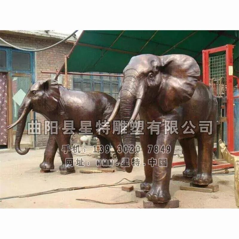 1001-铜雕-大象