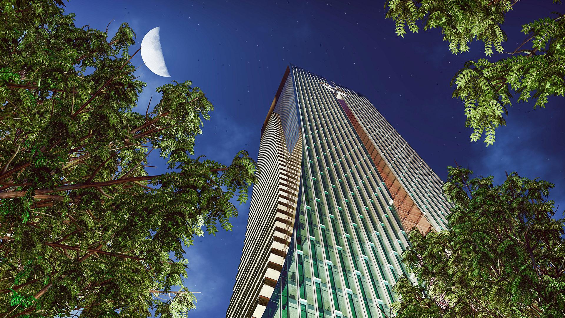 玻璃建筑高层2效果