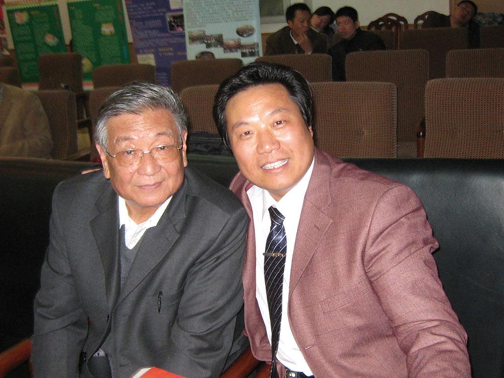 和北京师范大学博士生导师刘锡庆教授的合影