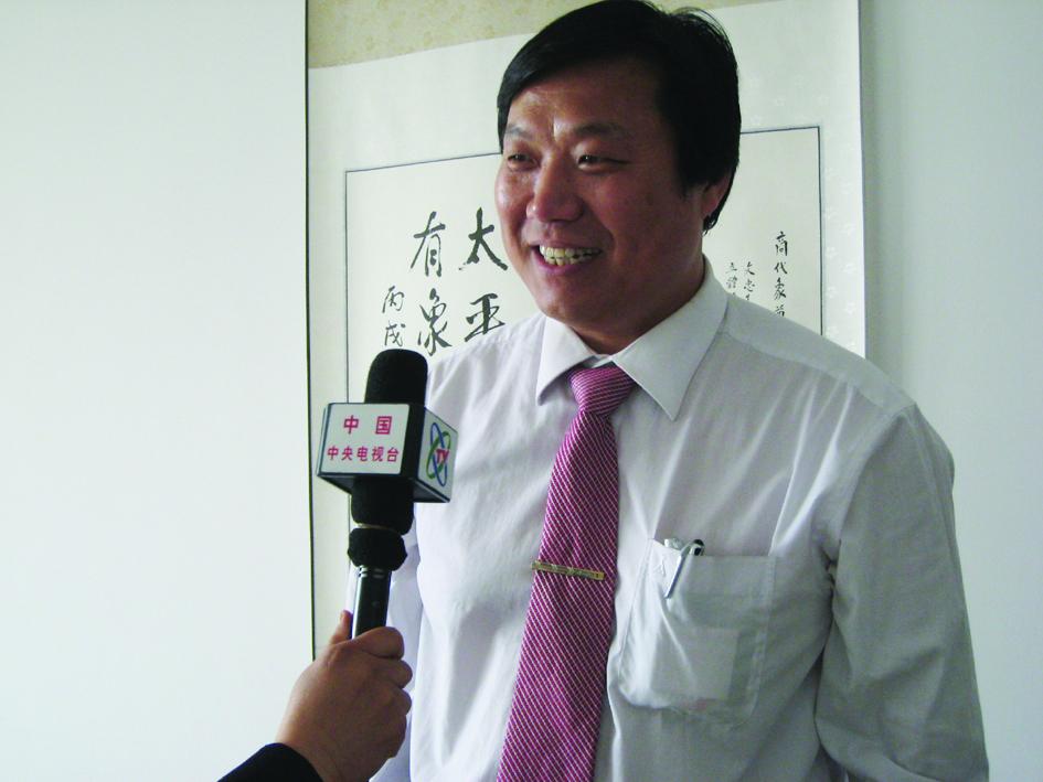 商顺文老师接受中央电视台专访