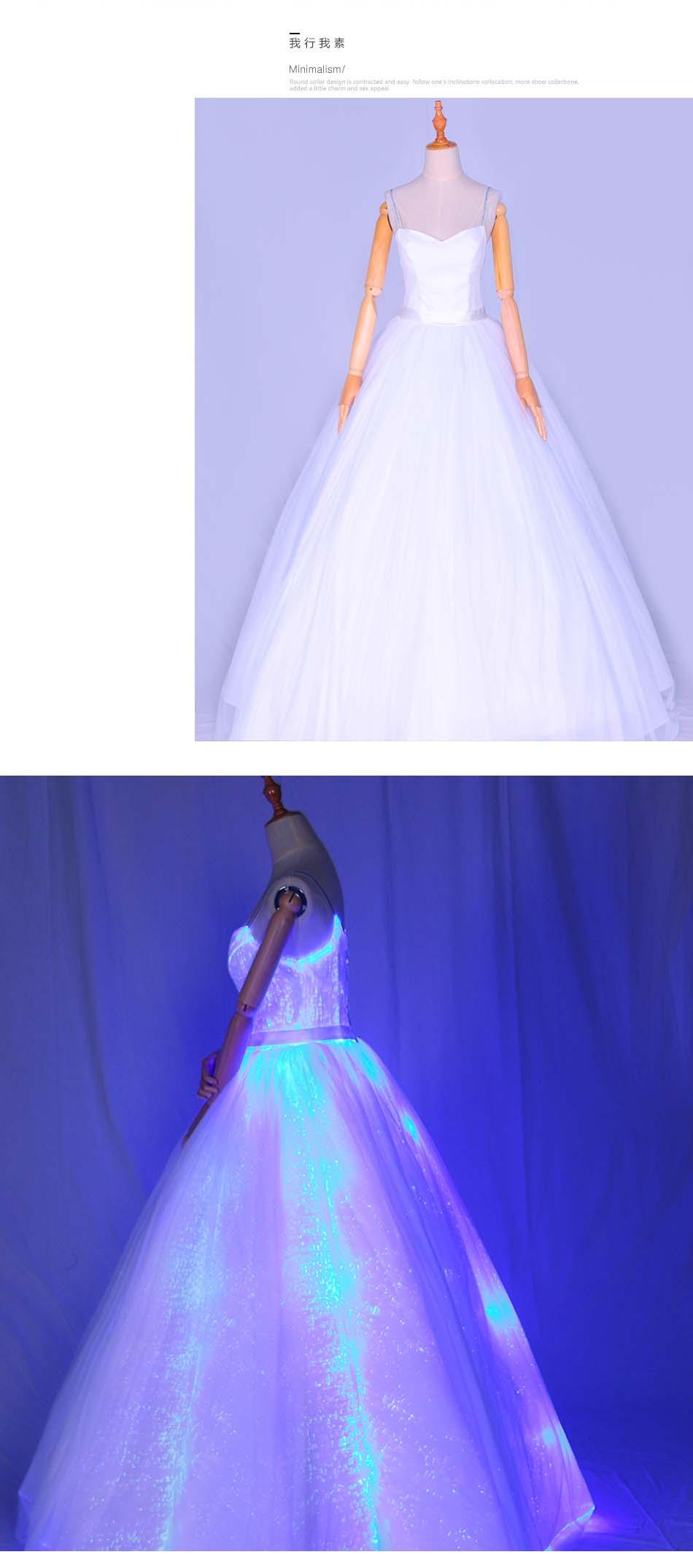 会发光的婚纱价格