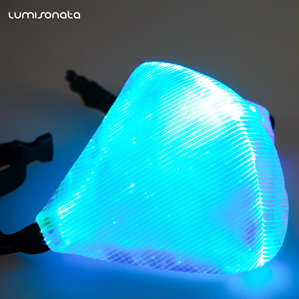 发光面料-LUMISONATA电音节狂欢发光光纤口罩  会发光的口罩