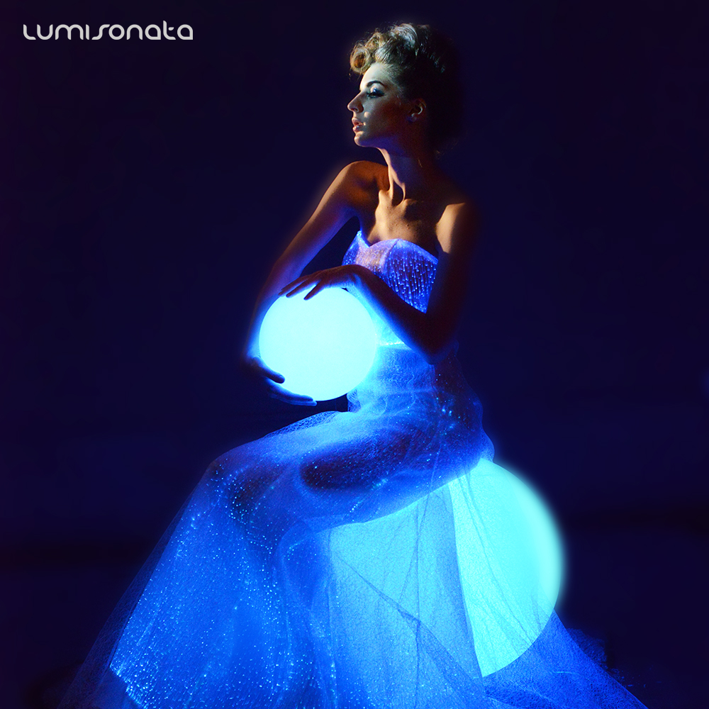 发光礼服裙七彩发光裙