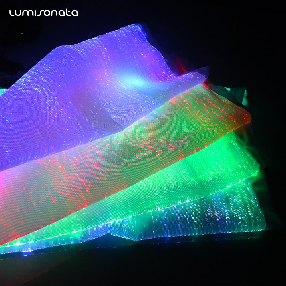 能用手机APP控制的发光光纤面料