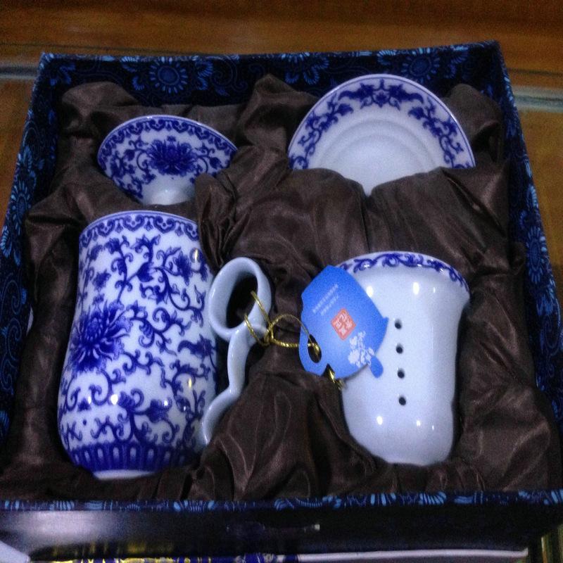 青瓷花韵茶具