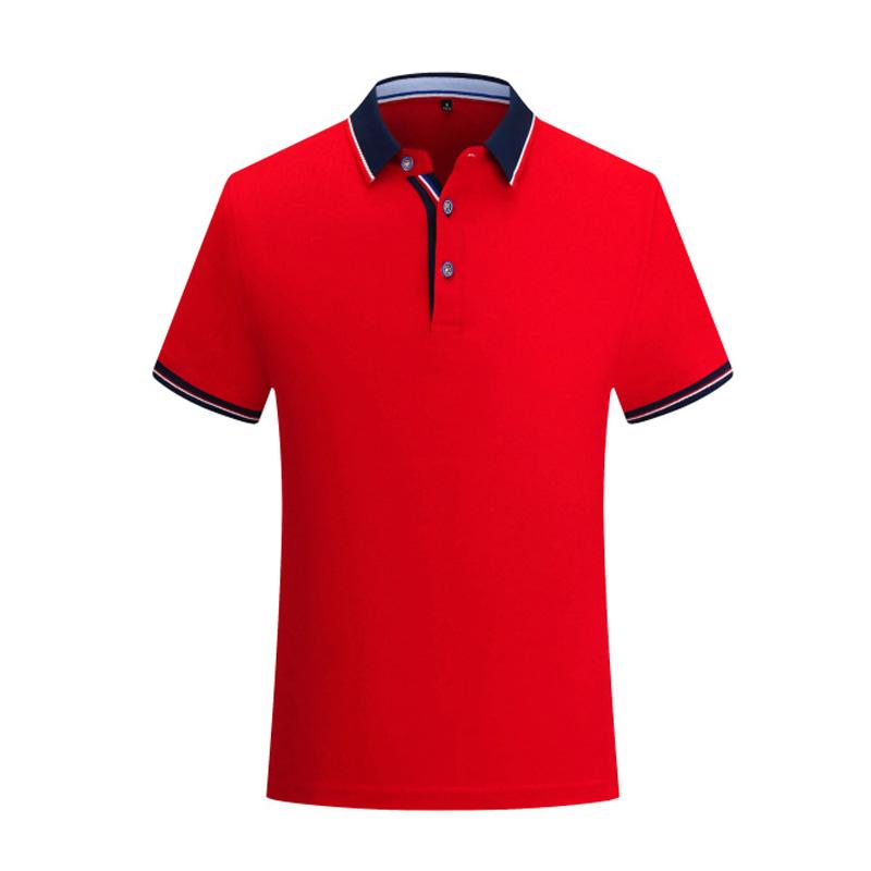 7711#铜氨丝光短袖翻领T恤定做