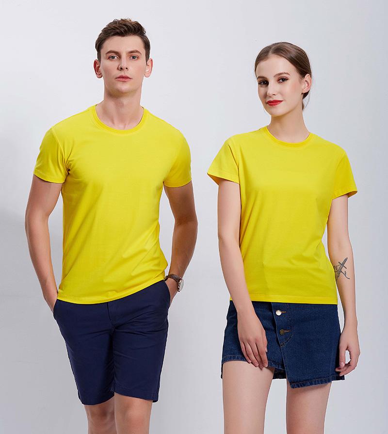 8006#新兰棉圆领短袖T恤定做