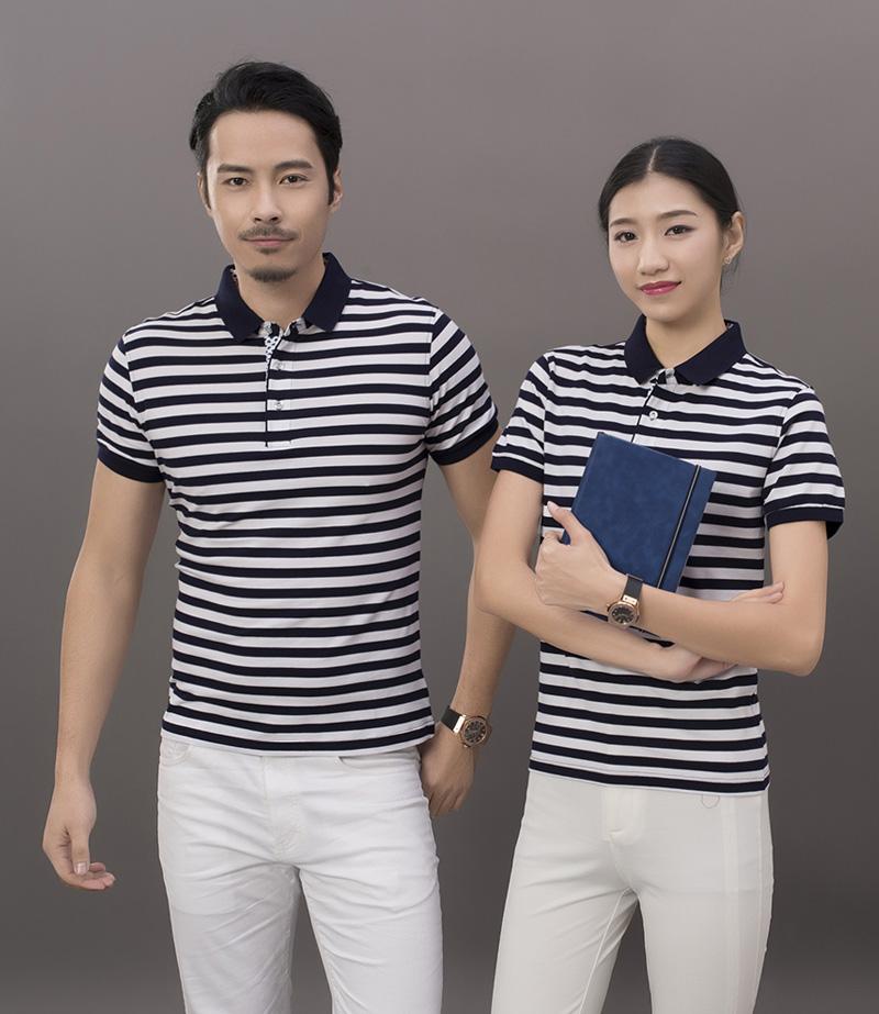 8018#超爽棉条线海魂短袖T恤