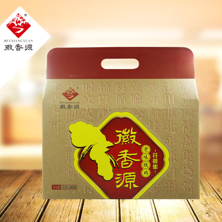 白羽鸡牛皮纸礼盒1000g