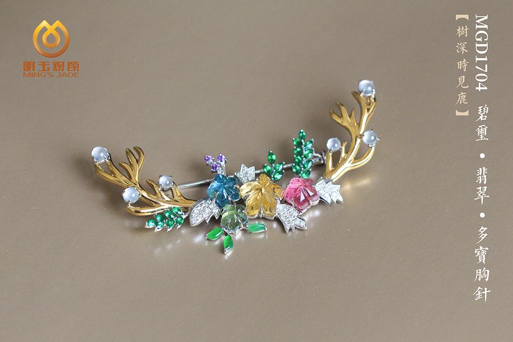 【高定设计款--树深时见鹿】多宝胸针