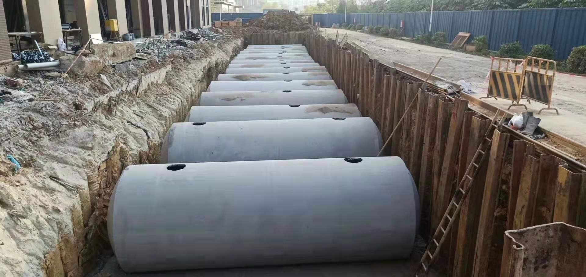 商砼整体式水泥化粪池-整体式钢筋混凝土化粪池厂家