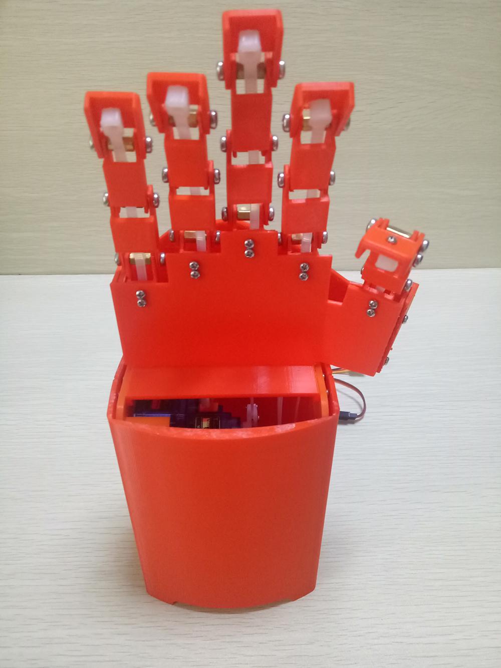 仿生5指同步控制机械手/同步机械手臂/机器人手指/数据手套