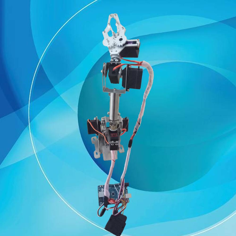 六自由度机械手臂/机械爪/arduino开源/教育机器人/学习套件遥控