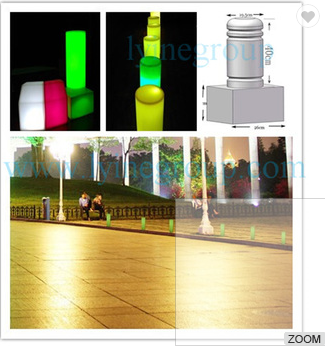 China Manufactory colorful car stopping stone ,lighting walking street column, lighting car stopping stone