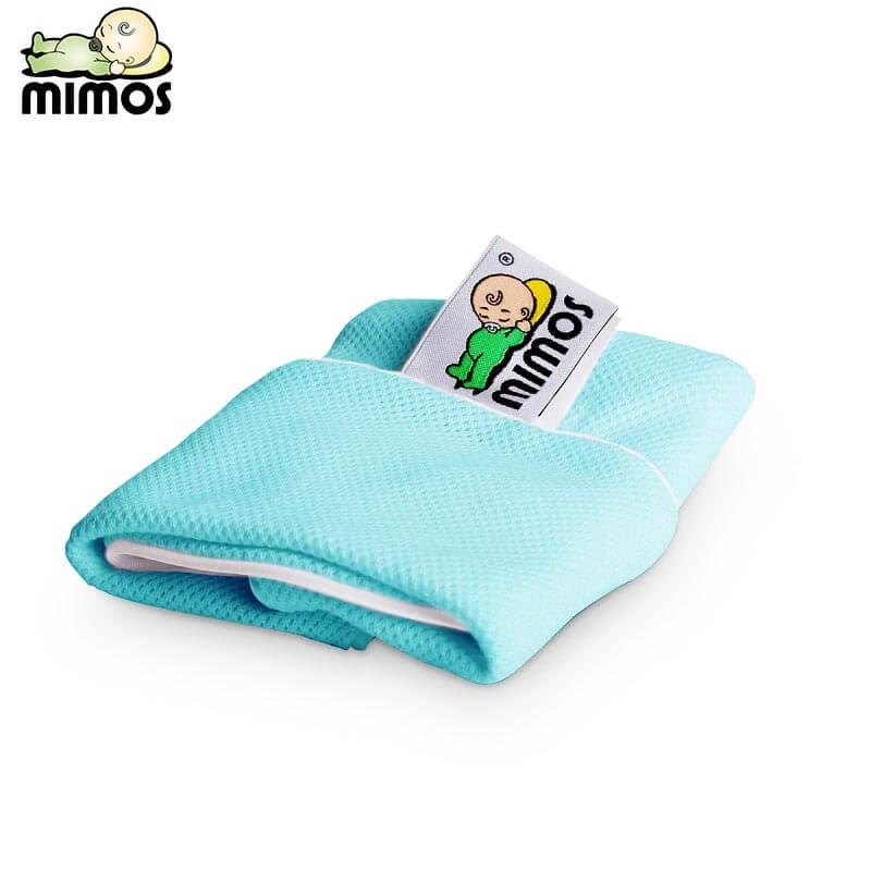 Mimos 3D自然头型婴儿枕-枕套M 湖蓝色