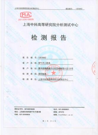 上海中科二噁英检测报告1